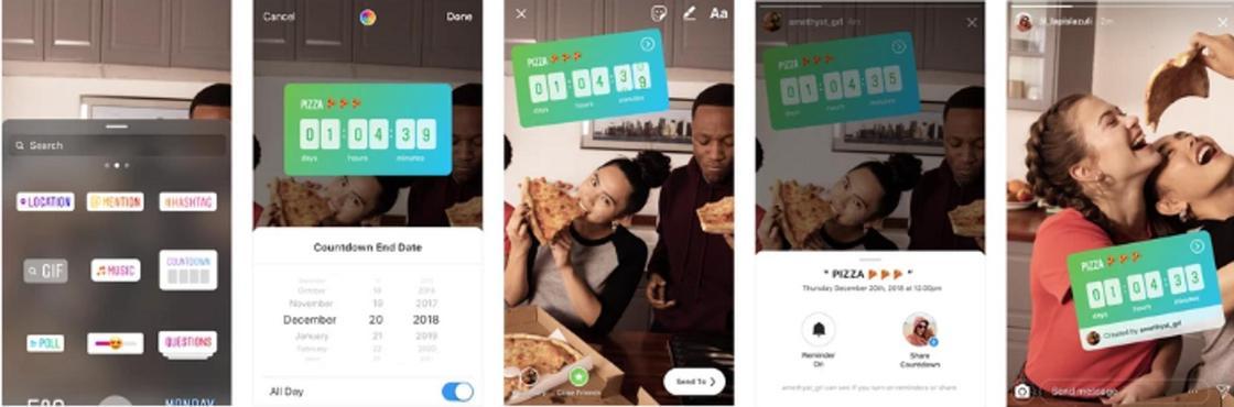 Обратный отсчет и обмен музыкой: Instagram запустил ряд новых функций