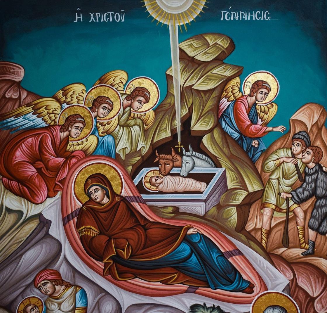 Изображение евангельской истории Рождества Христова