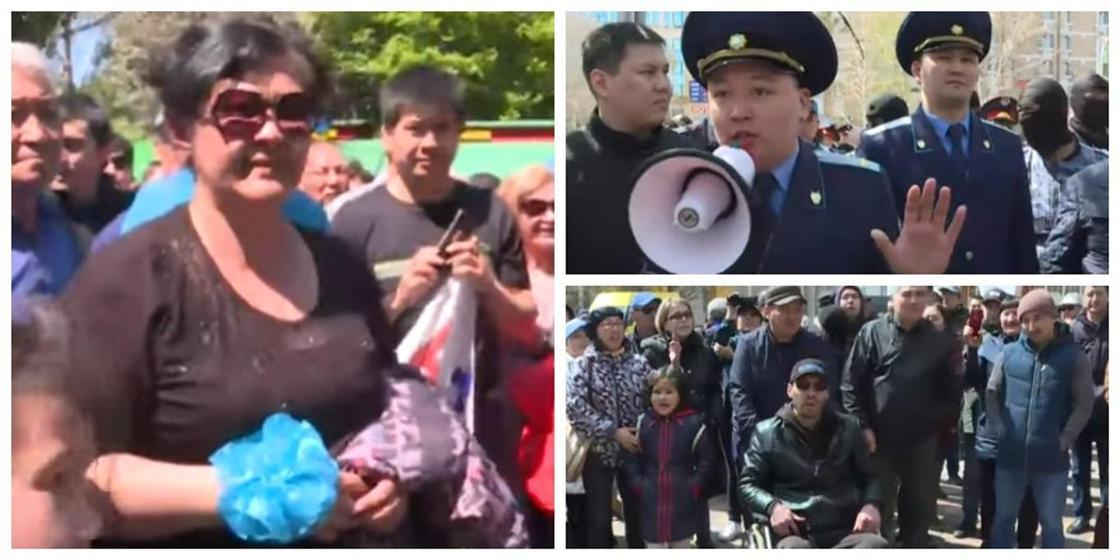 Алматы мен Нұр-Сұлтан қалаларында рұқсат етілмеген митингтер өтті