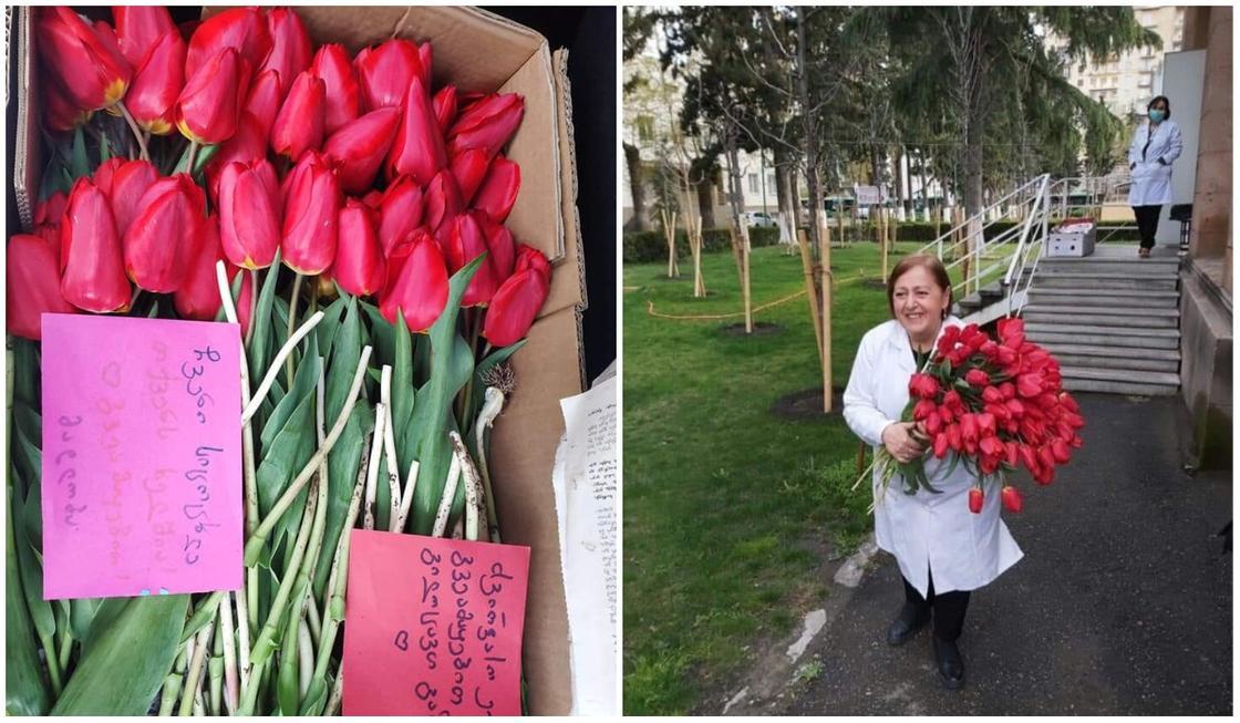 Находящийся на грани разорения садовод подарил 1,5 тыс. тюльпанов врачам