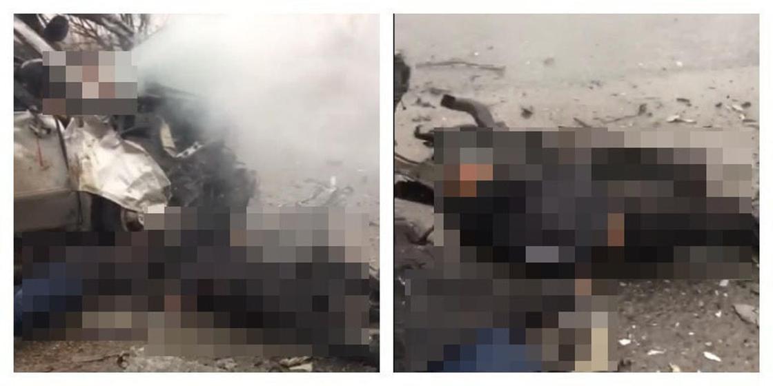 Кровь и трупы: Видео с последствиями страшного ДТП шокировало казахстанцев (видео)