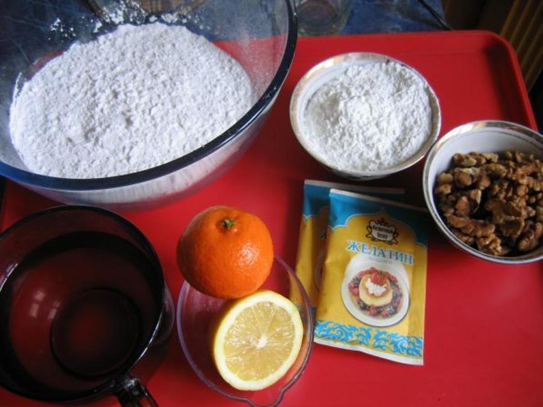 Домашний рахат-лукум: ингредиенты