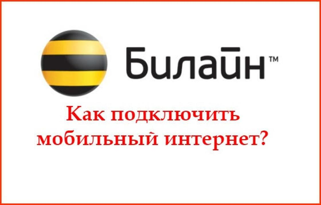 Как отключить интернет на «Билайн» Казахстан