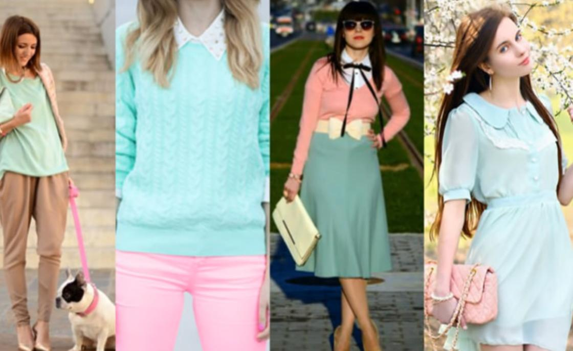 Модные образы с вещами мятного цвета