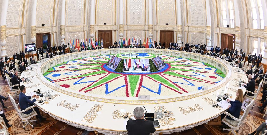 Заседание Совета глав государств-членов ШОС