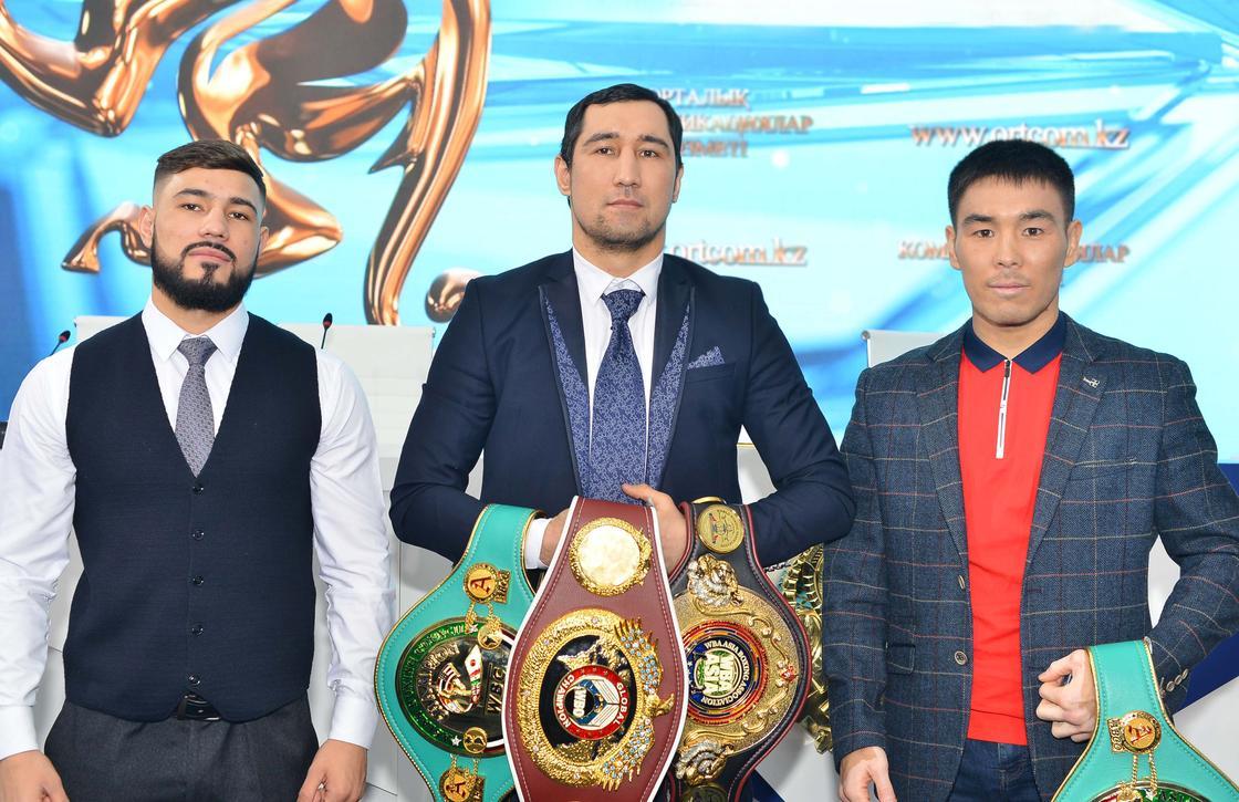 Ербосынулы, Ахмедов и Жанабаев сразятся за титулы 24 марта в Алмате