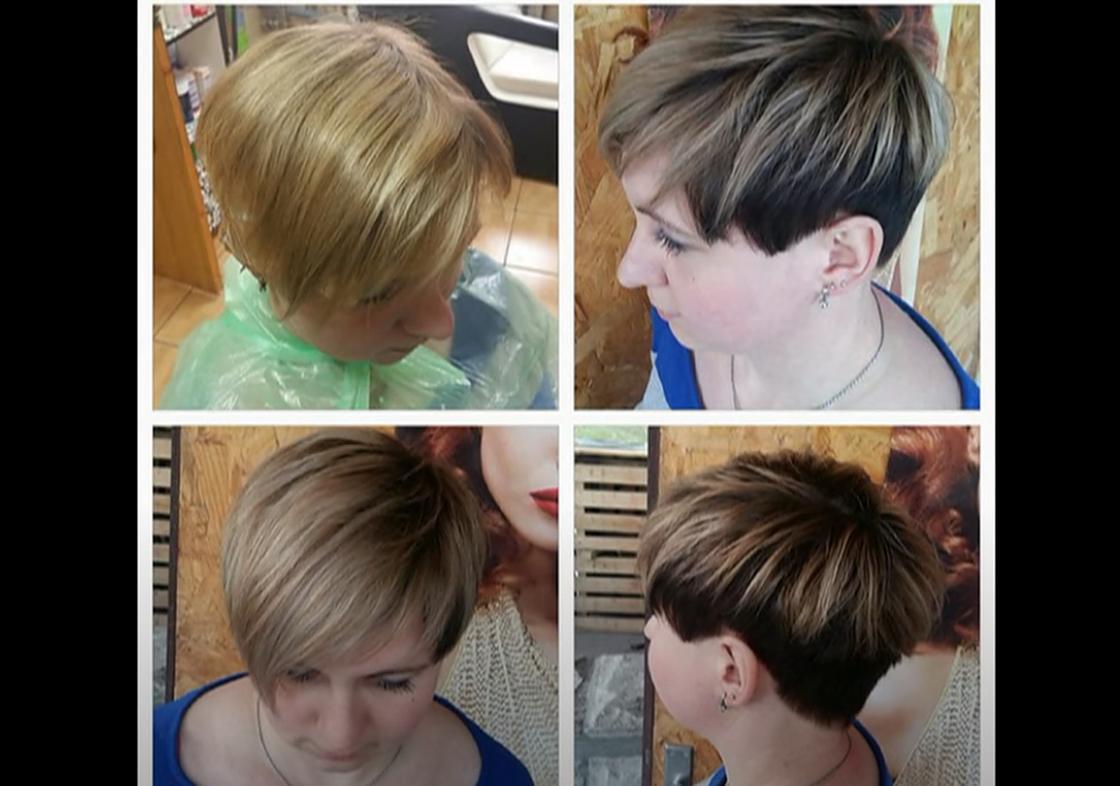 Шатуш на коротких волосах разных цветов
