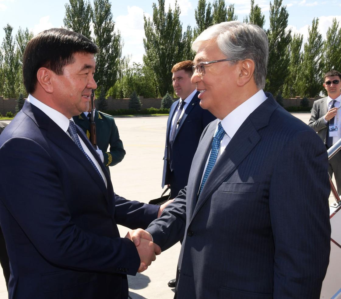 Касым-Жомарт Токаев приехал в Бишкек (фото)