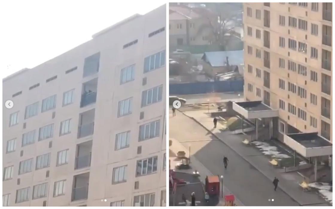 С 17-го этажа пытался спрыгнуть мужчина в Алматы (видео)