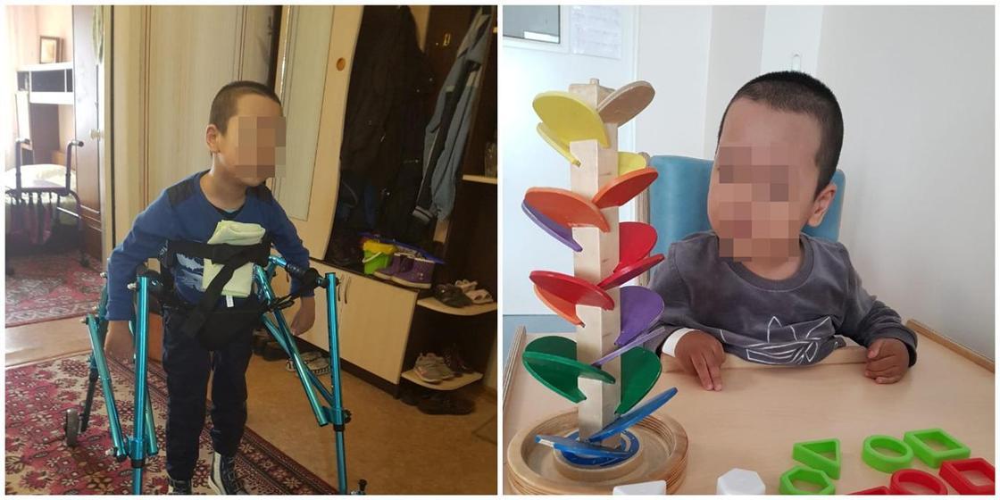 "24.12 ""Хочет гулять"": семилетнему ребенку с ДЦП нужна коляска за миллион тенге"