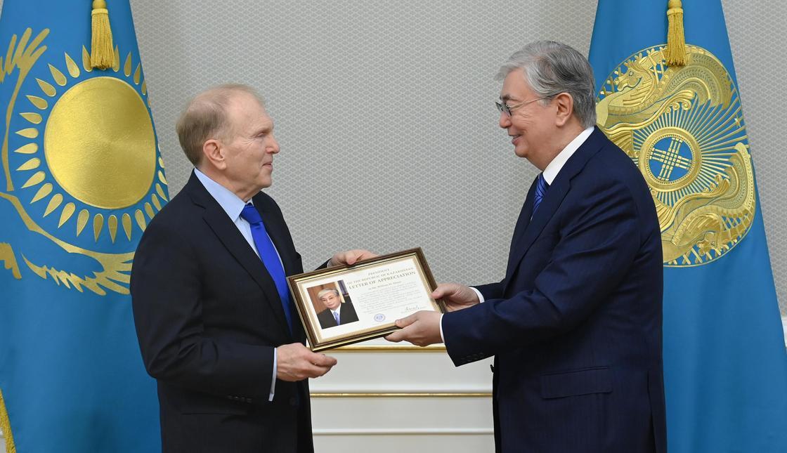 Касым-Жомарт Токаев и Уильям Мозер