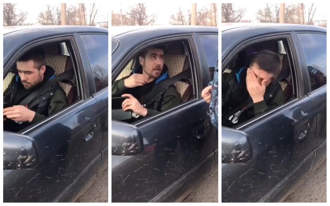Злостный нарушитель карантина разъезжал по дорогам Нур-Султана (видео)