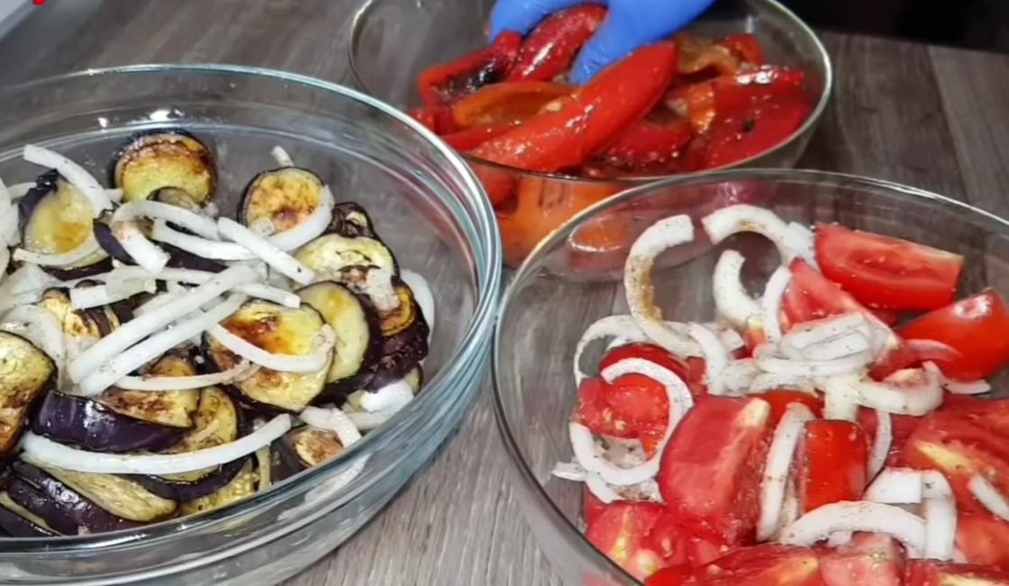 Овощи в отдельной посуде