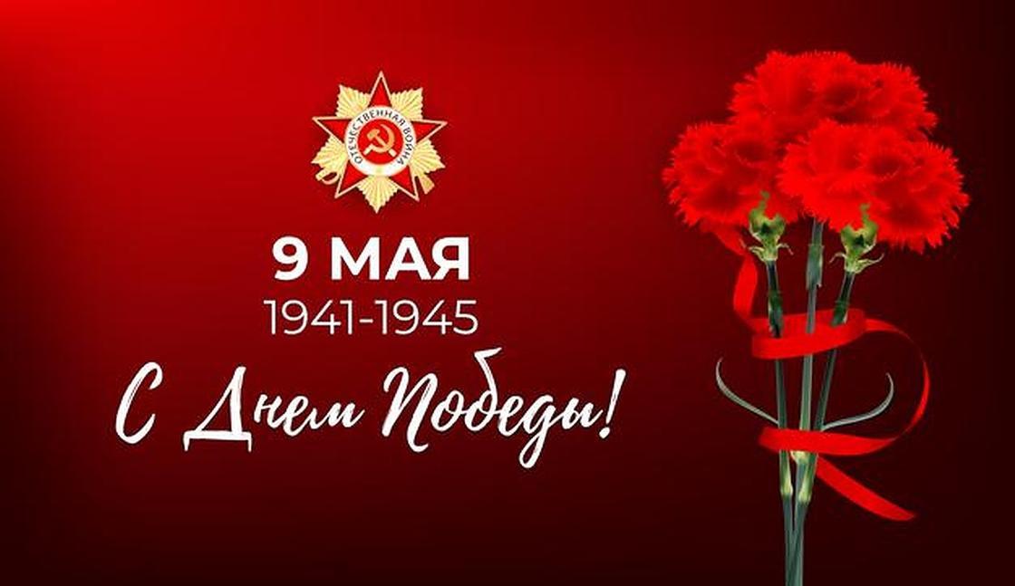 Красные гвоздики с Днем Победы