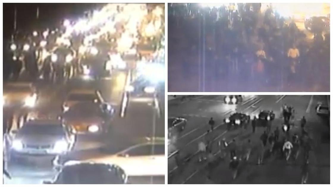 Толпа людей: шокирующие кадры с митингов в Алматы сняли камеры видеонаблюдения