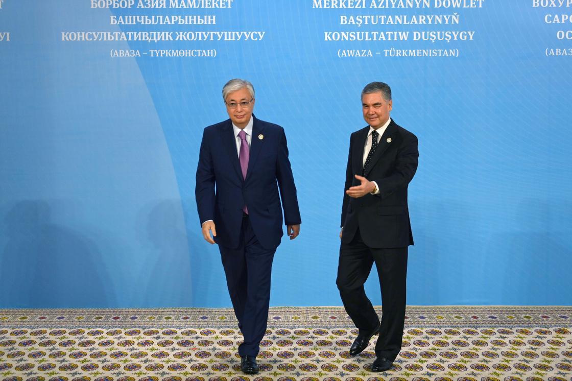 Касым-Жомарт Токаев и Гурбангулы Бердымухамедов