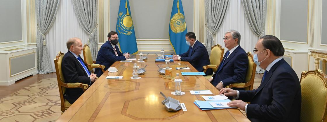 Касым-Жомарт Токаев на встрече с Уильямом Мозером
