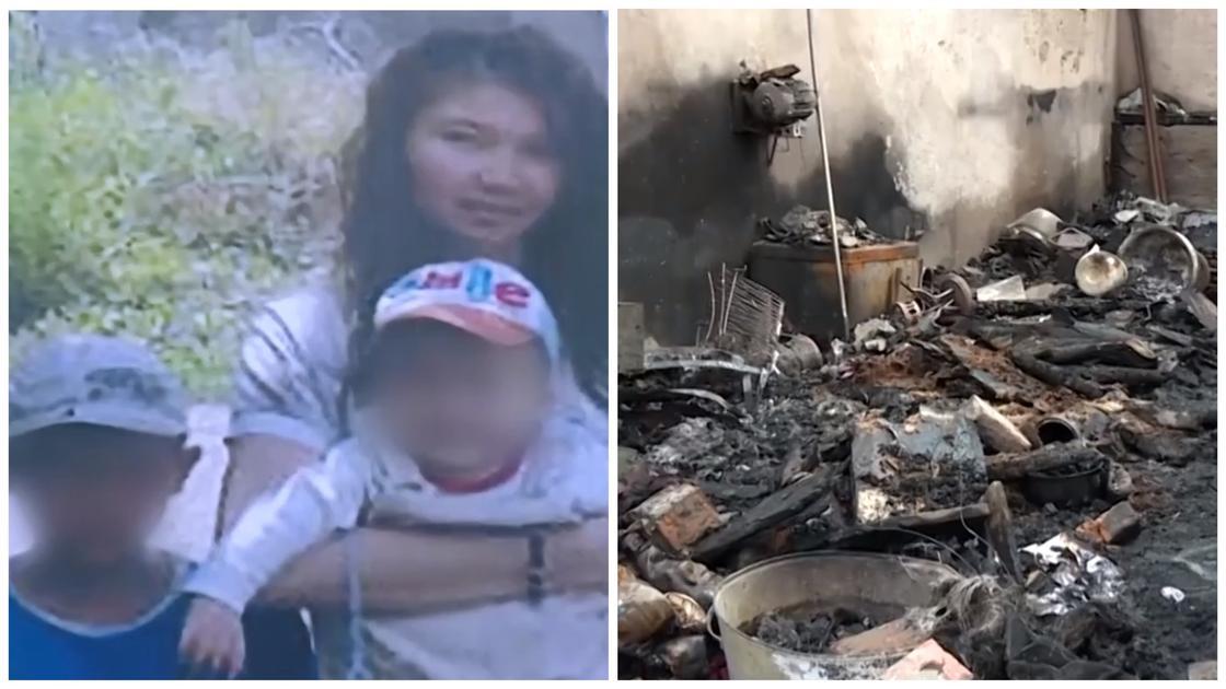 Мать и двое детей сгорели заживо в Кыргызстане