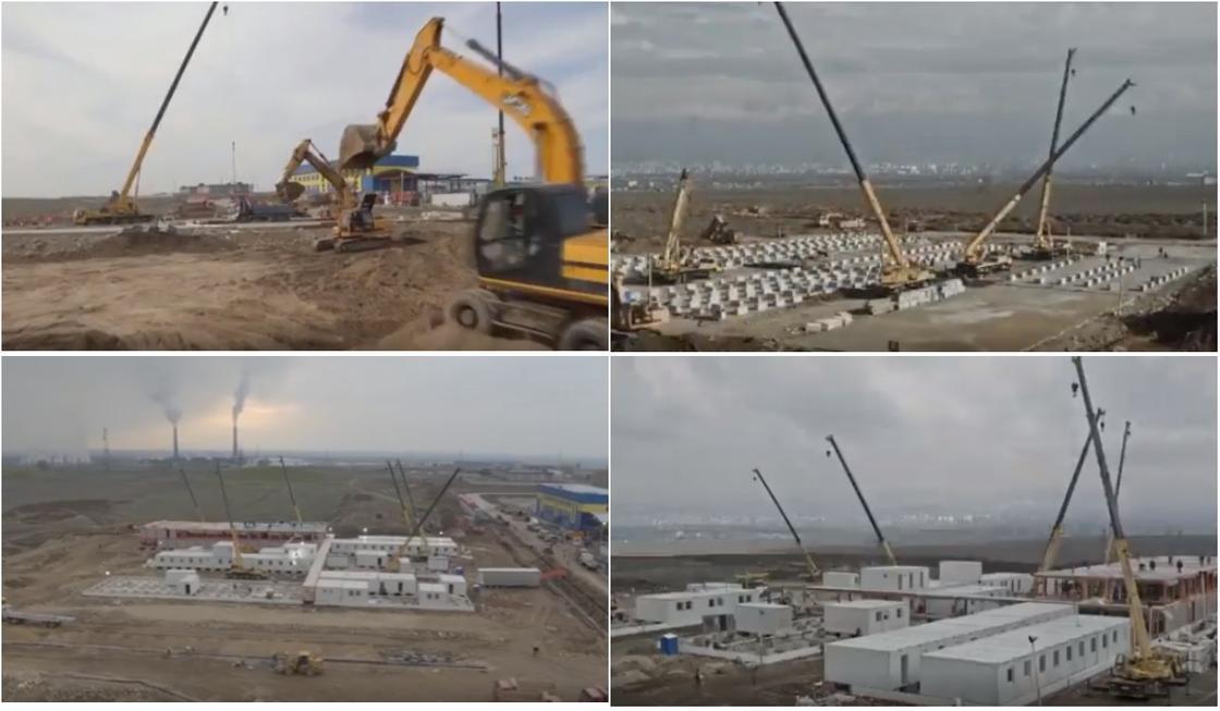 Как идет постройка нового карантинного центра близ Алматы