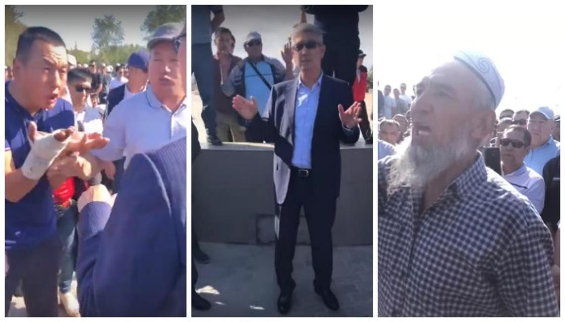 Аким Мангистауской области выслушал протестующих жителей Жанаозена