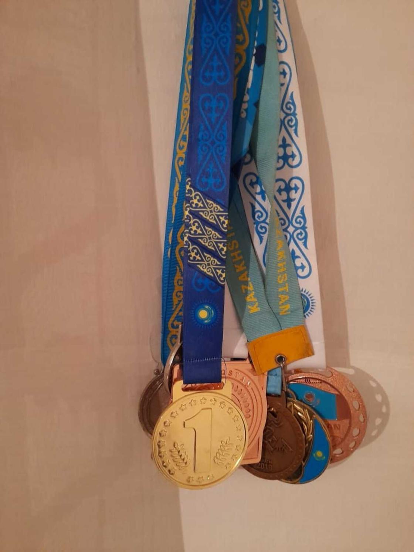 Ләззаттың үлкен ұлы жеңіп алған медальдар