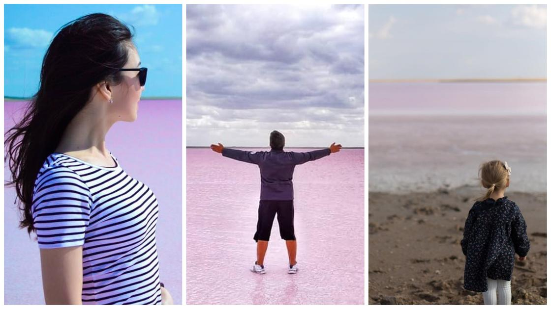 Розовое озеро вблизи Нур-Султана стало популярно среди казахстанцев (фото, видео)