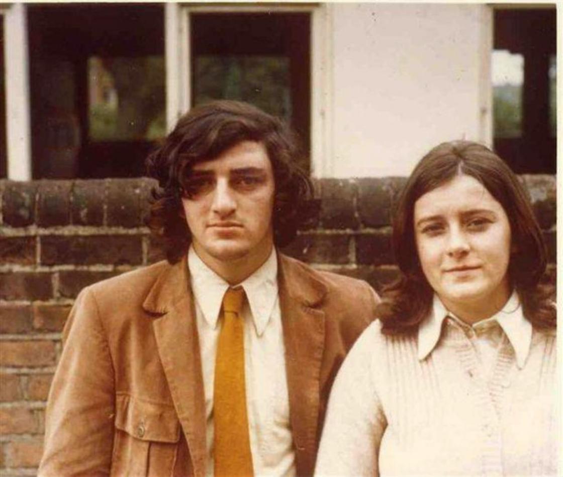 Ричард Фримантл и его жена Кристин в молодости