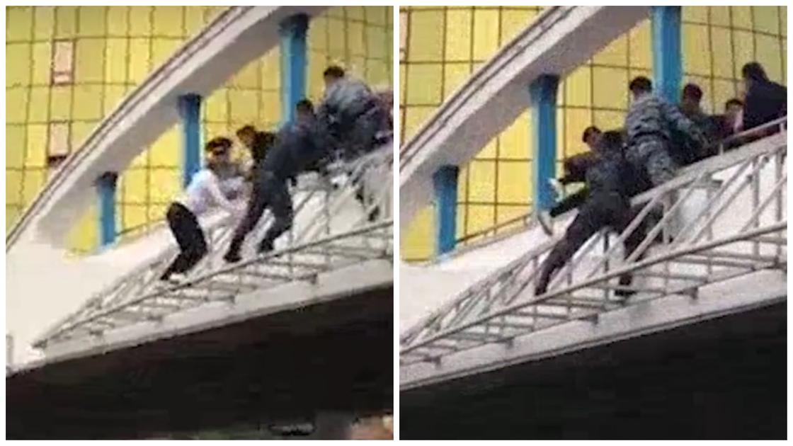 Как снимали женщину с моста у Дома министерств в Нур-Султане