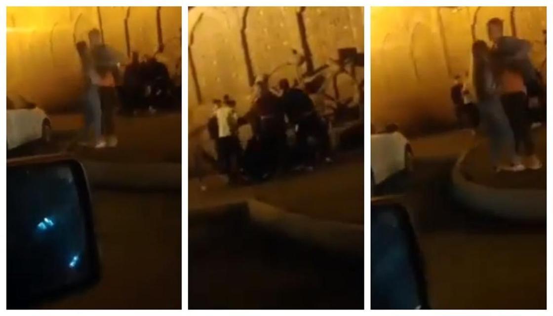 Дрались мужчины и женщины: массовую драку возле ресторана Хива в Нур-Султане сняли на видео