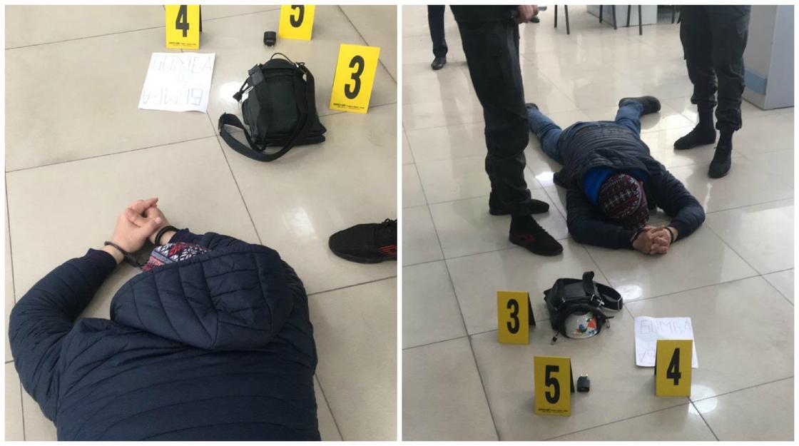 Попытку вооруженного ограбления Jysan Bank предотвратили в Шымкенте