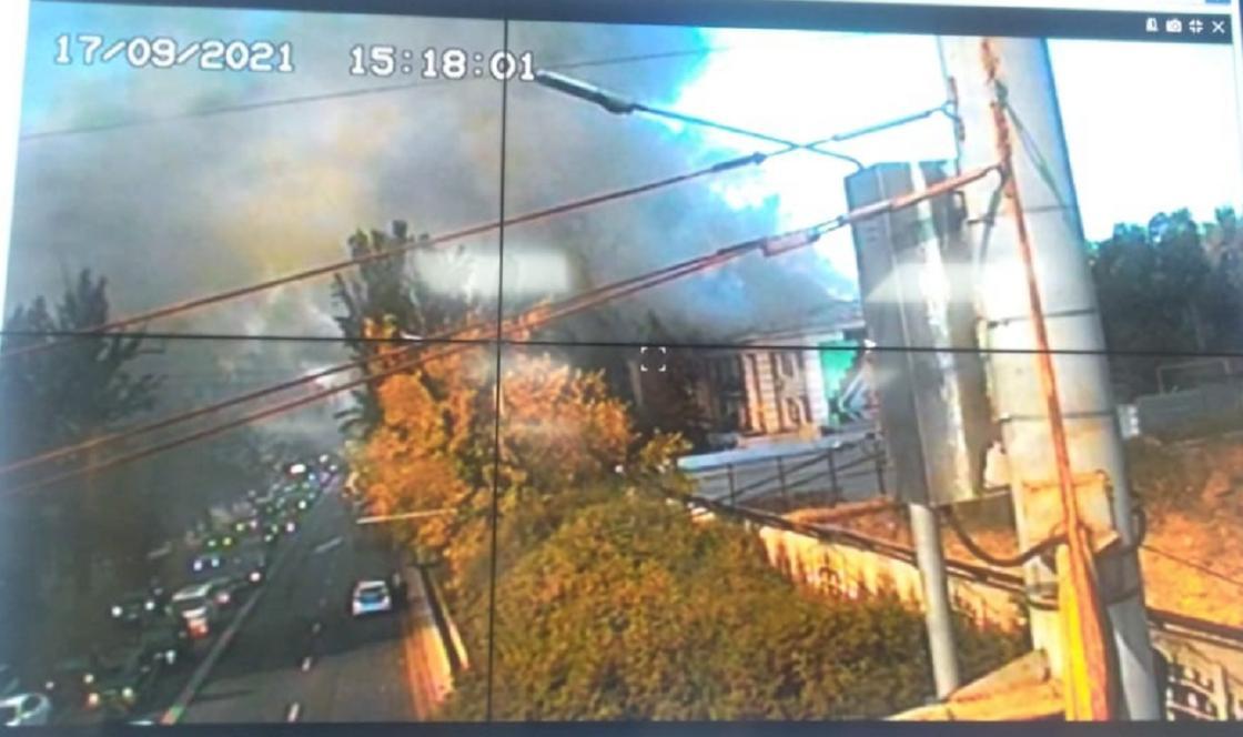 Пожар отследили по камерам