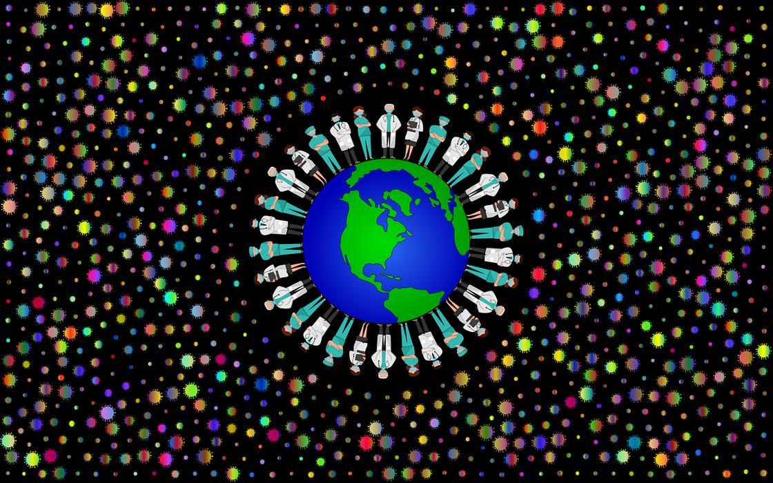 Символика: медики на земном шаре