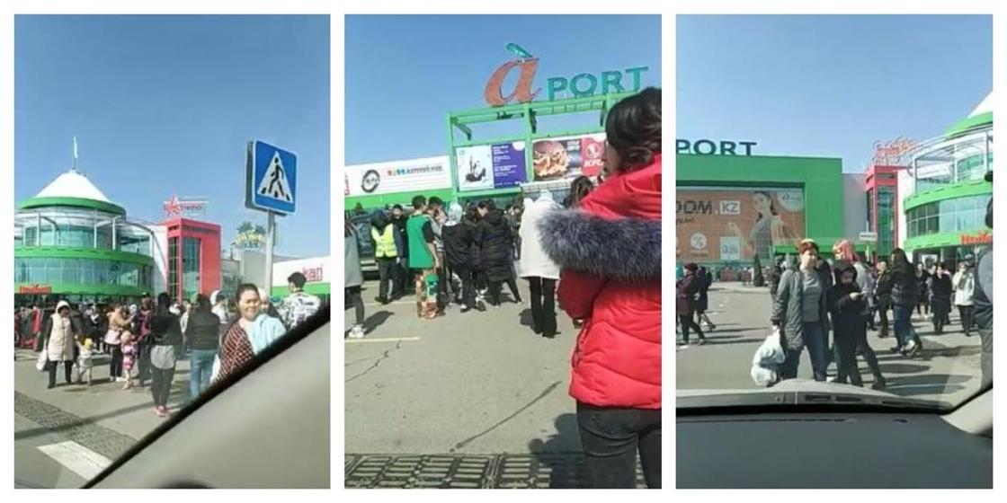 Эвакуировали посетителей и персонал крупнейшего ТРЦ в Алматы (видео)