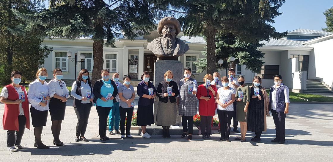 Алия Абсеметова на встрече с жителями