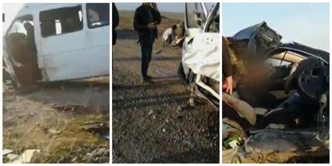 2 погибли, 8 в больнице: микроавтобус попал в аварию в Жамбылской области