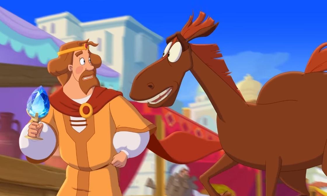 Кадр из мультфильма «Конь Юлий и большие скачки»