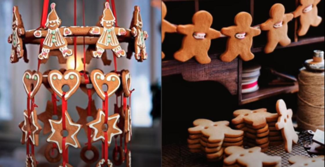 Пряники, печенье, связанные ленточками, для украшения