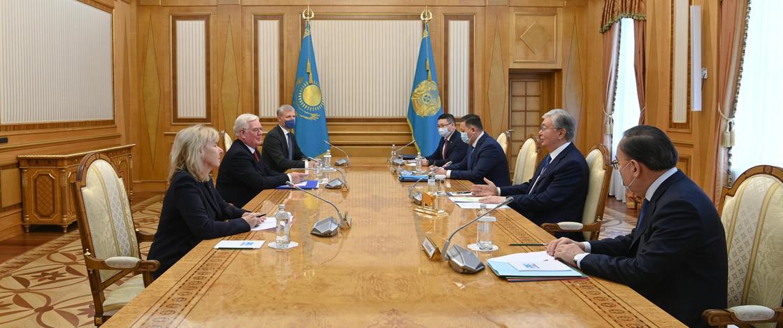 Встреча Касым-Жомарта Токаева с делегацией ЕС