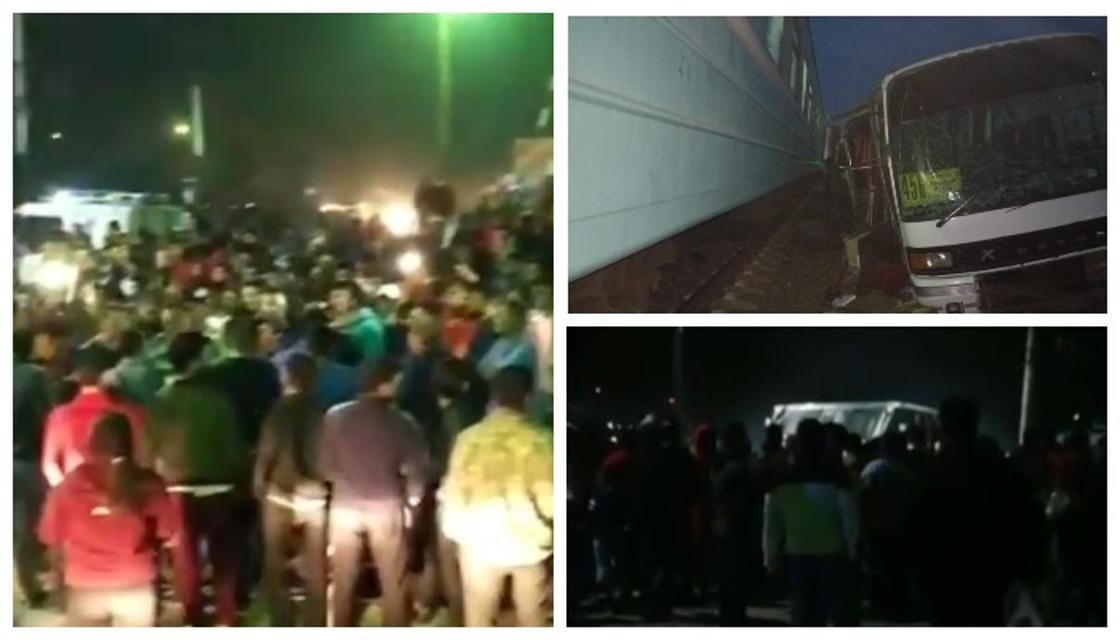 Люди вышли к месту аварии с поездом близ Шамалгана и требуют построит мост
