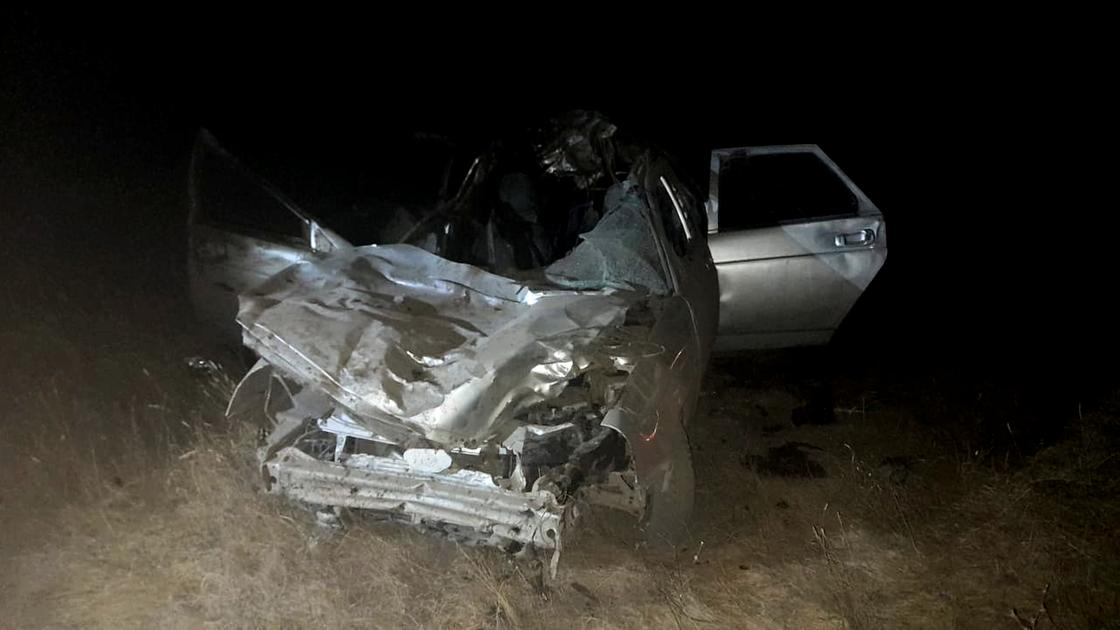 Автомобиль попал в аварию в ЗКО