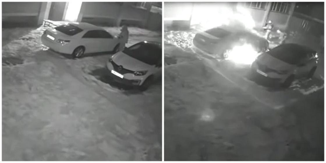 Неизвестный мужчина поджег автомобиль в Уральске