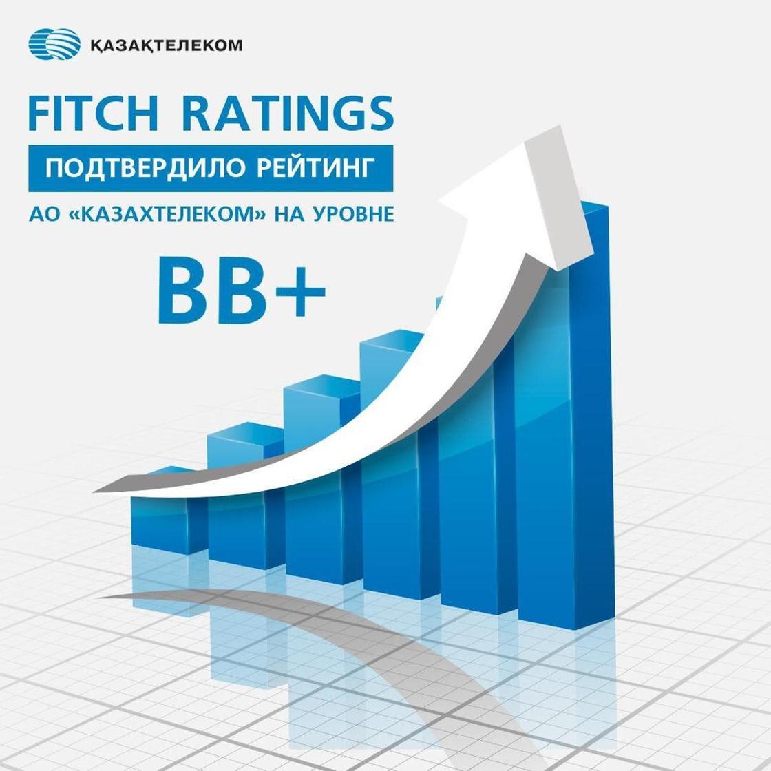 Fitch Ratings подтвердило рейтинг АО «Казахтелеком» на уровне ВВ plus