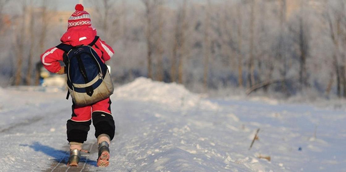 Минус 26: школьникам Костаная отменили учебу из-за морозов