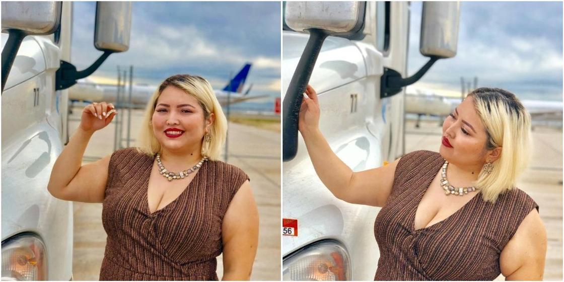 Казахстанка переехала в США и стала дальнобойщицей