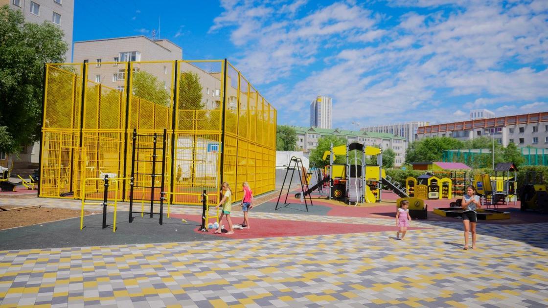 Масштабное преображение дворов и скверов проходит в Нур-Султане