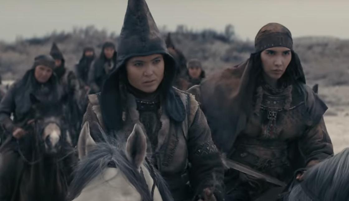 Саки на лошадях под руководством Томирис