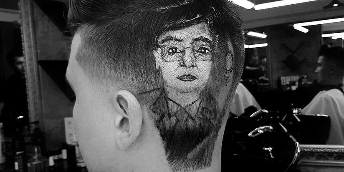 Алматыда барбер клиенттің басына Тоқаевтің портретін салып берген (фото)