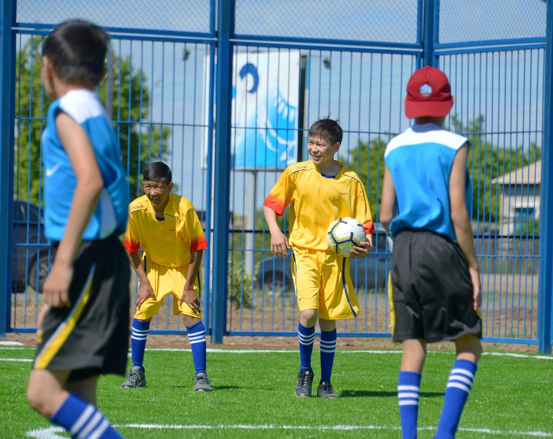 В селах Павлодарской области появляются многофункциональные спортивные площадки