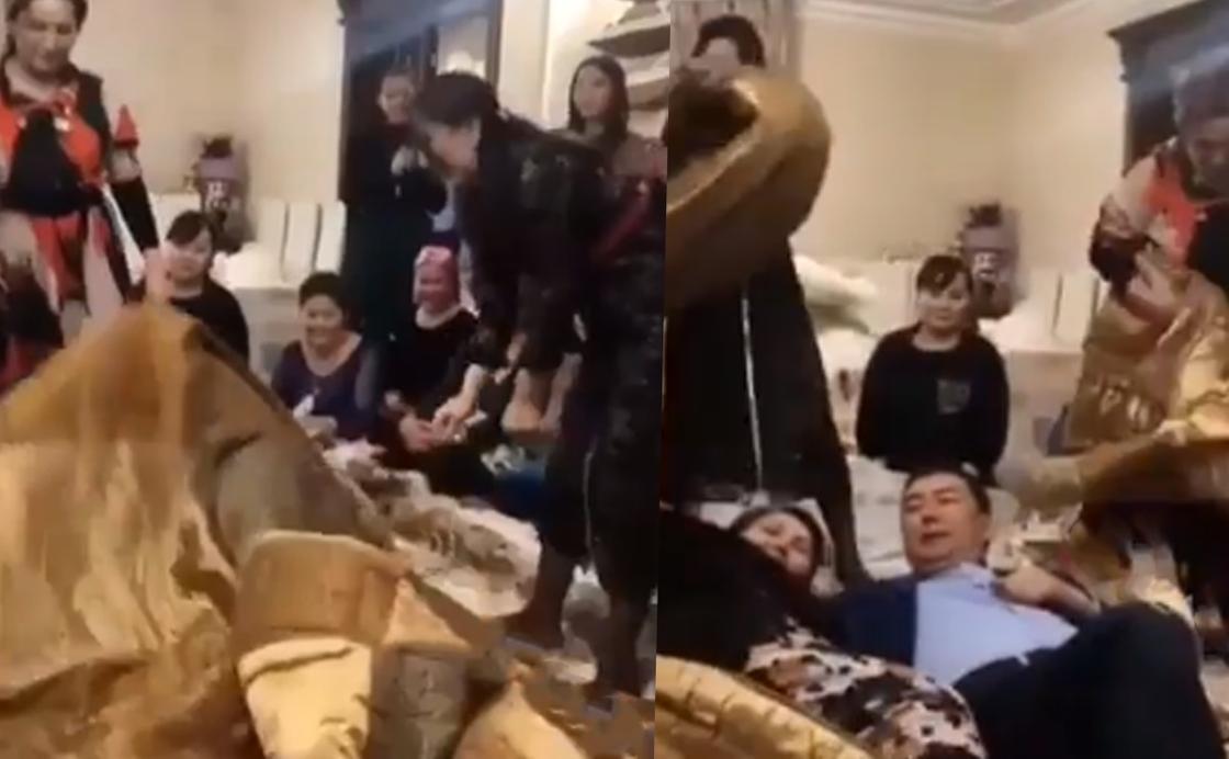 Видео с заворачиванием сватов в одеяло вызвало бурное обсуждени