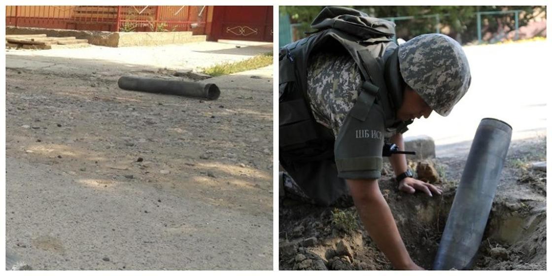 Арыстан ұшқан снаряд жарықшақтары көрші ауылдағы үйлерді зақымдаған